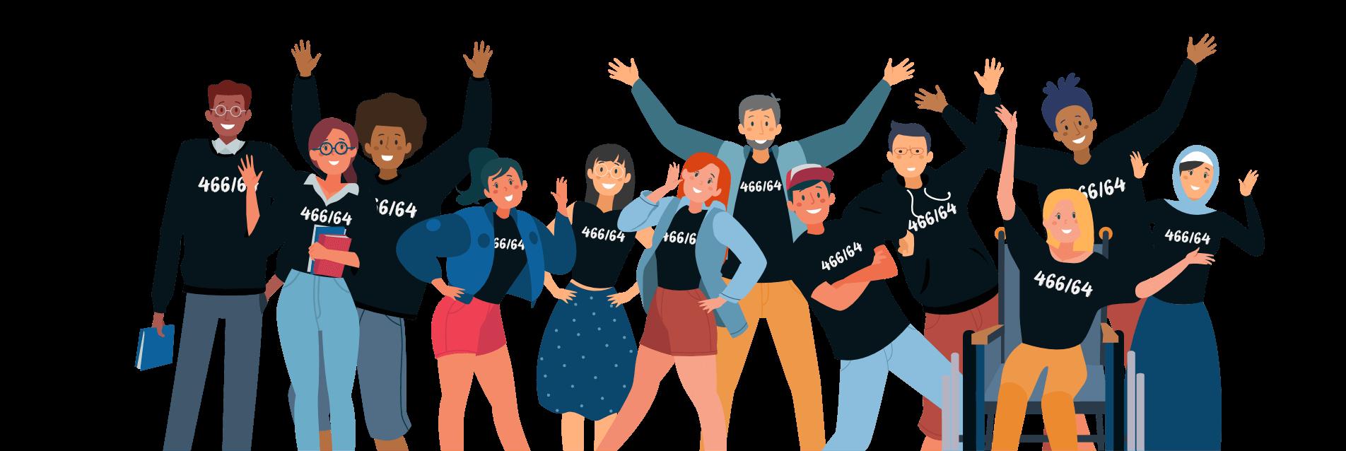 Grupo de jovens - ilustração